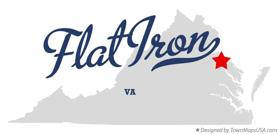 Map of Flat Iron Virginia VA