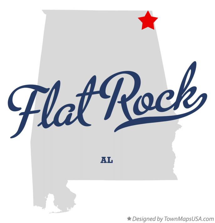 Map of Flat Rock Alabama AL