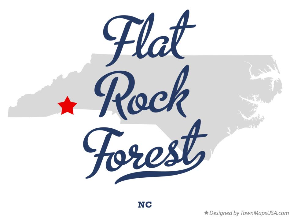 Map of Flat Rock Forest North Carolina NC
