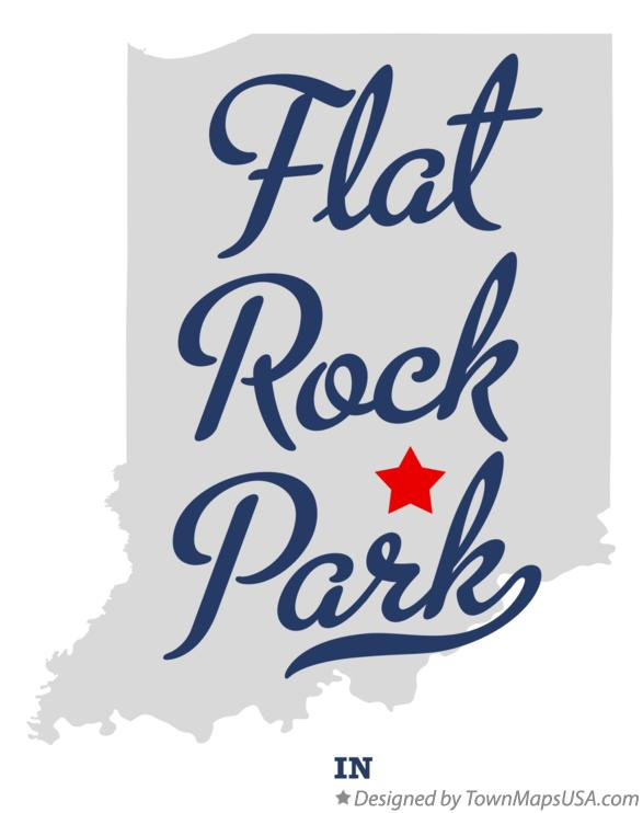 Map of Flat Rock Park Indiana IN