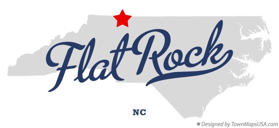 Map of Flat Rock North Carolina NC