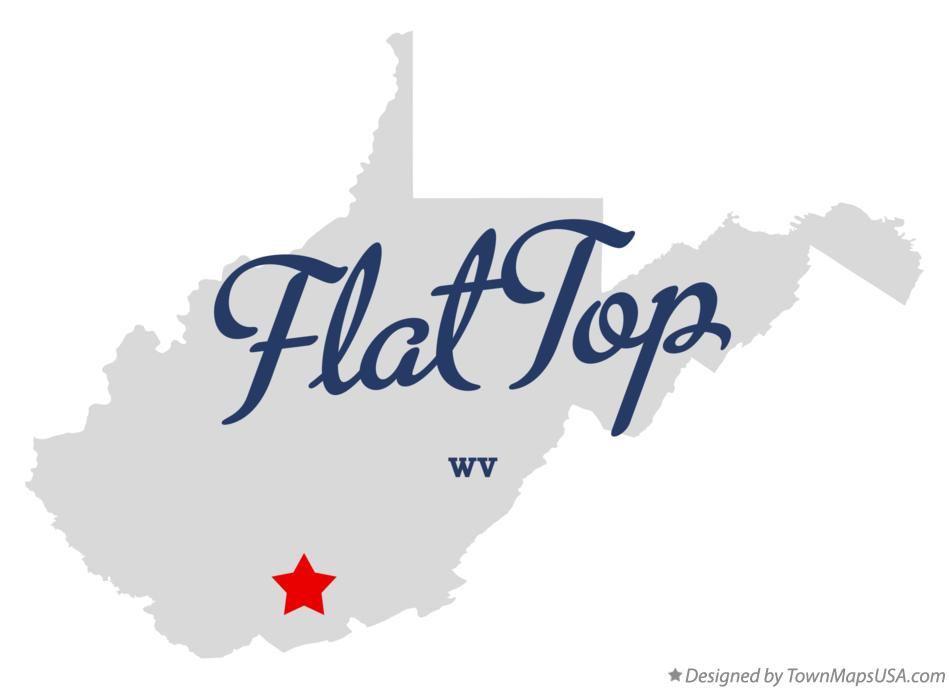 Map of Flat Top West Virginia WV