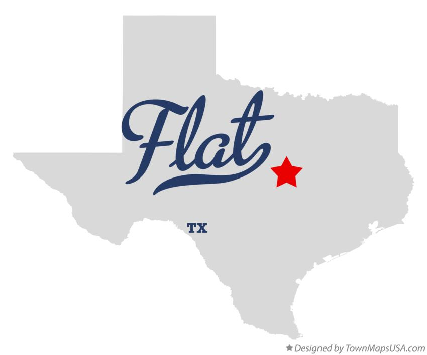 Map of Flat Texas TX