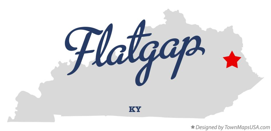 Map of Flatgap Kentucky KY