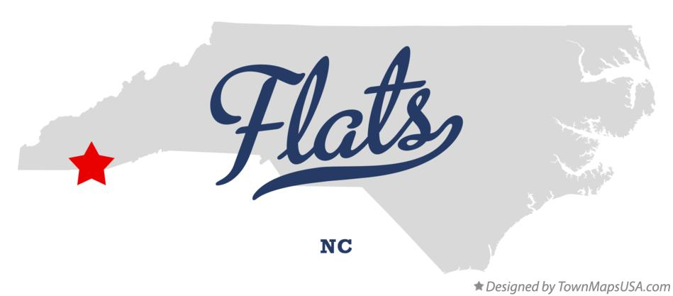 Map of Flats North Carolina NC