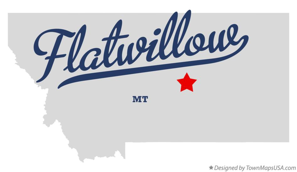 Map of Flatwillow Montana MT