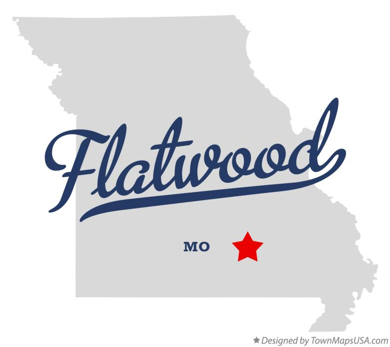 Map of Flatwood Missouri MO