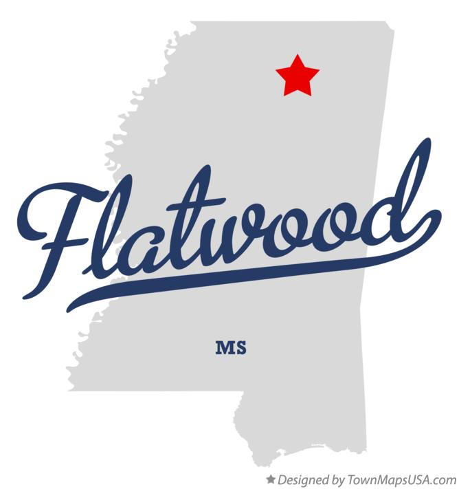 Map of Flatwood Mississippi MS