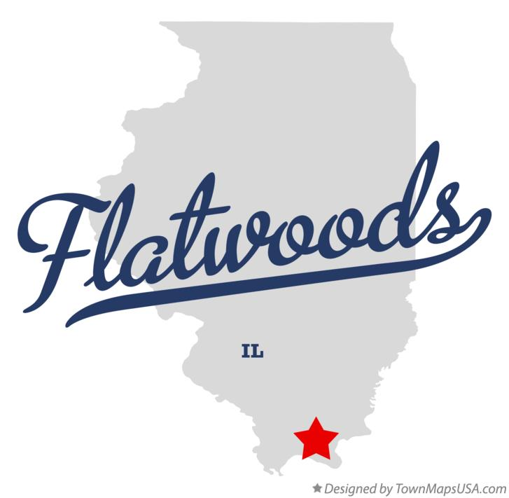 Map of Flatwoods Illinois IL