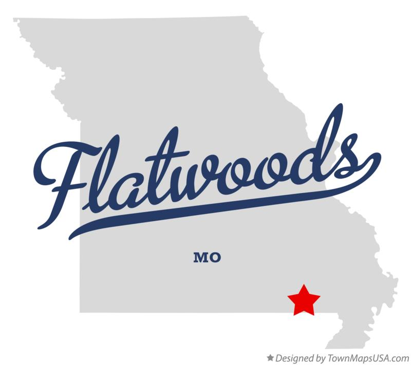 Map of Flatwoods Missouri MO