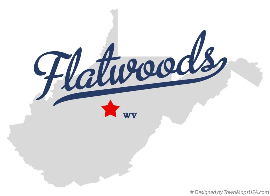 Map of Flatwoods West Virginia WV