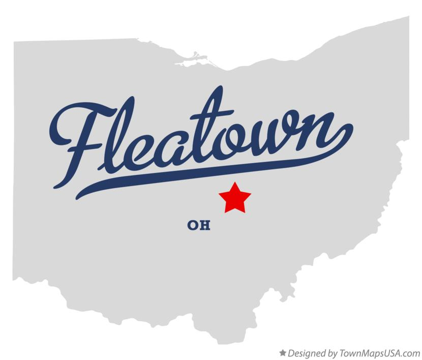 Map of Fleatown Ohio OH