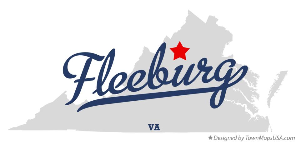 Map of Fleeburg Virginia VA