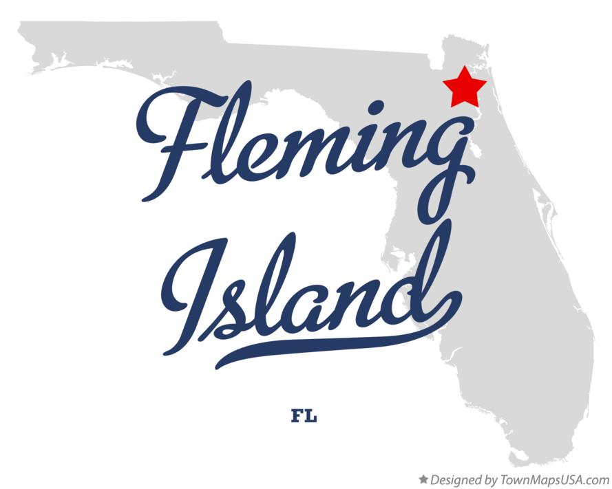 Map of Fleming Island Florida FL