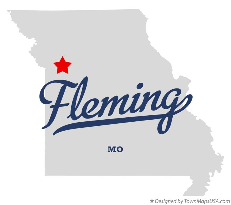 Map of Fleming Missouri MO