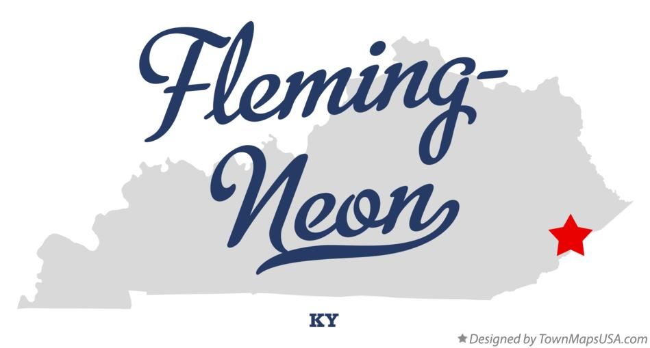 Map of Fleming-Neon Kentucky KY