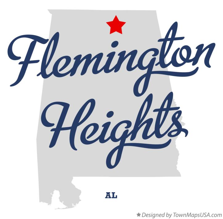 Map of Flemington Heights Alabama AL