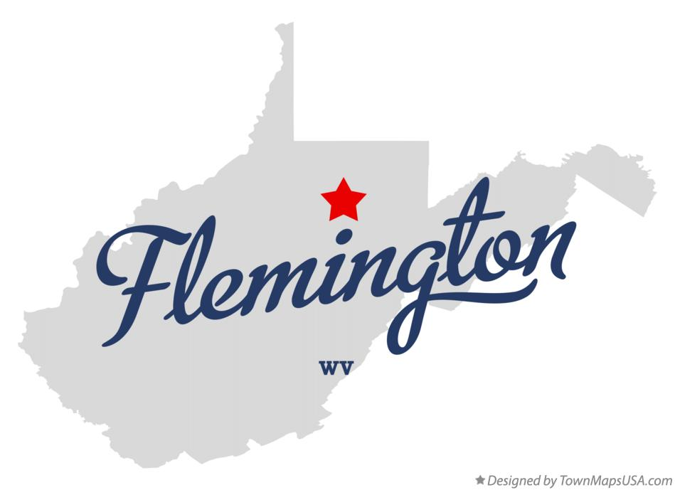 Map of Flemington West Virginia WV
