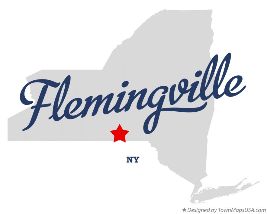 Map of Flemingville New York NY