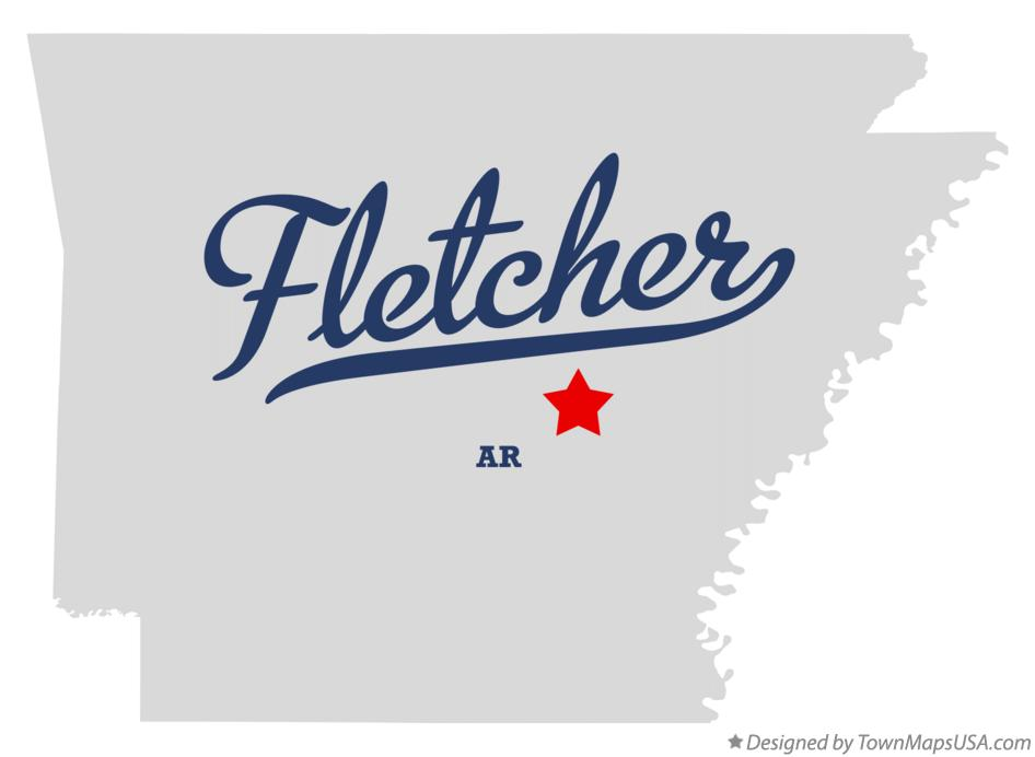 Map of Fletcher Arkansas AR