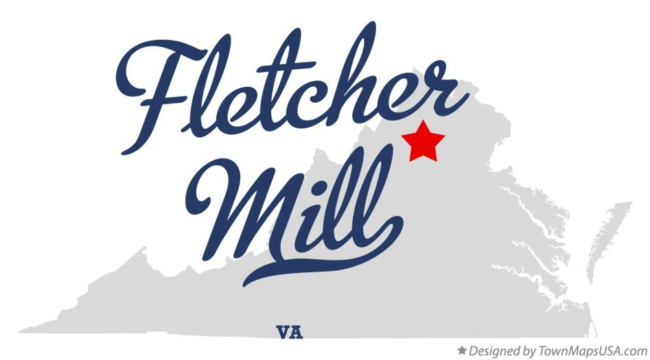 Map of Fletcher Mill Virginia VA