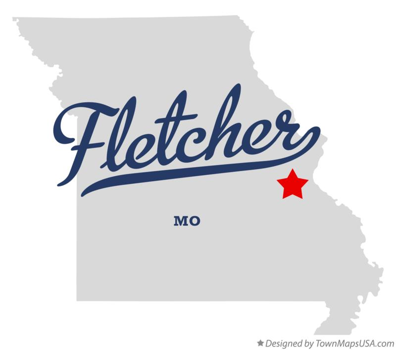 Map of Fletcher Missouri MO