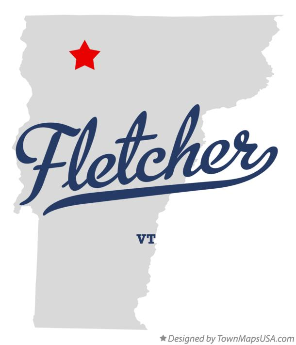 Map of Fletcher Vermont VT