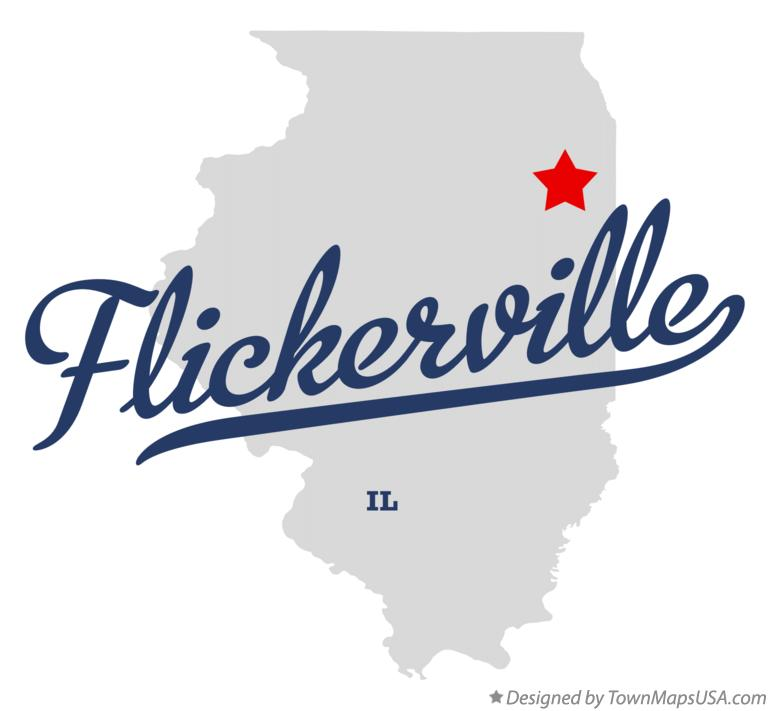 Map of Flickerville Illinois IL