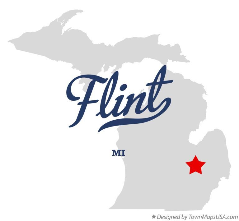 map of flint mi michigan