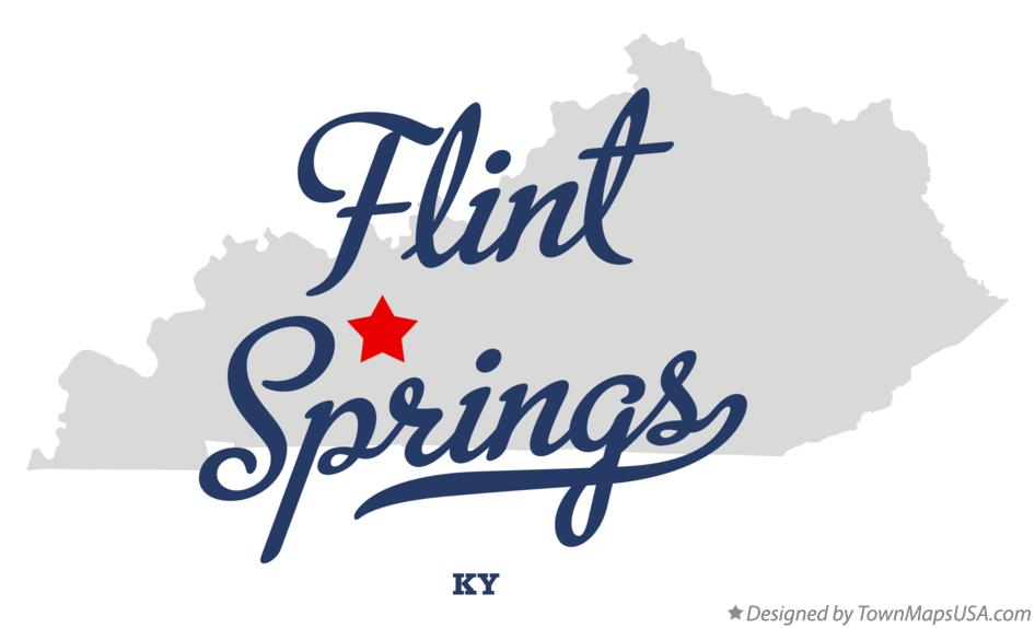 Map of Flint Springs Kentucky KY