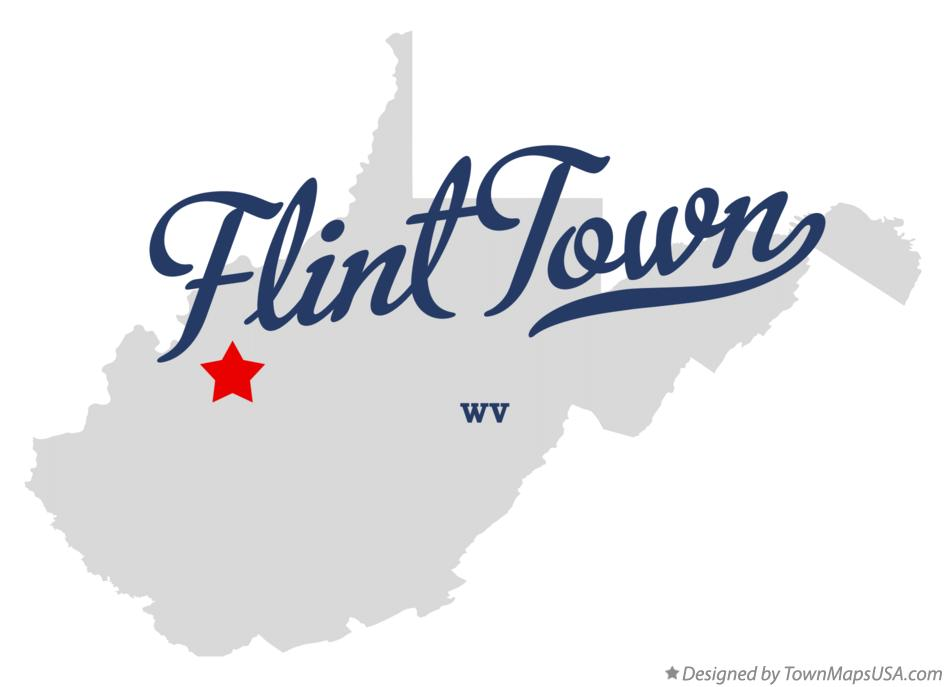 Map of Flint Town West Virginia WV