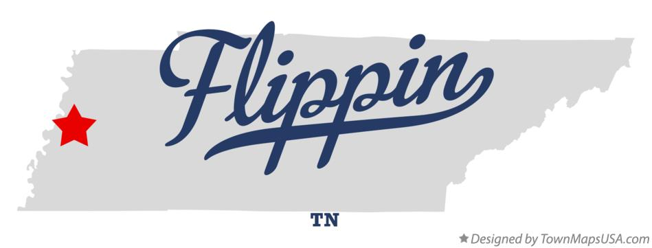 Map of Flippin Tennessee TN