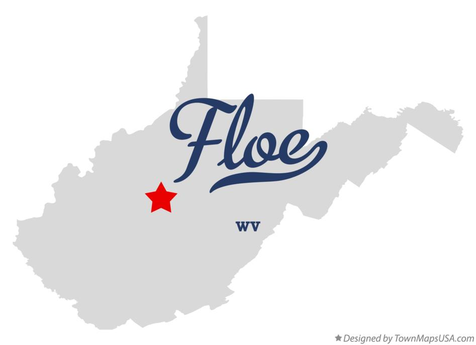 Map of Floe West Virginia WV