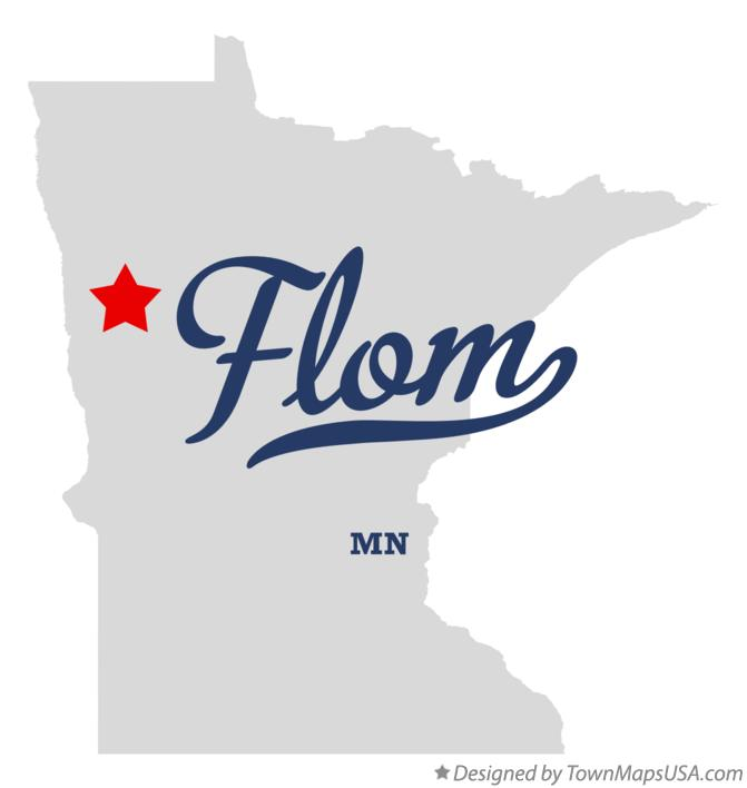 Map of Flom Minnesota MN