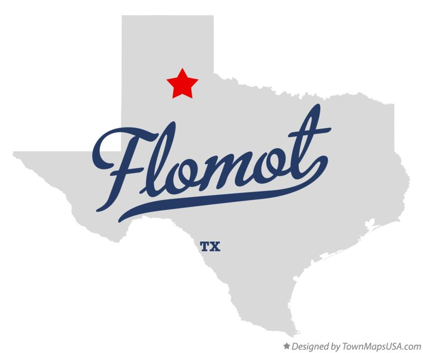Map of Flomot Texas TX