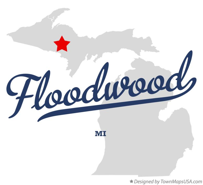 Map of Floodwood Michigan MI