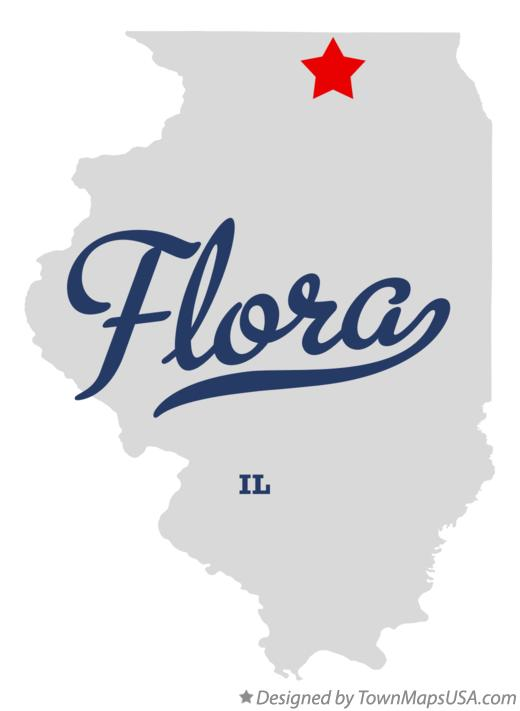 Map Of Flora Boone County Il Illinois
