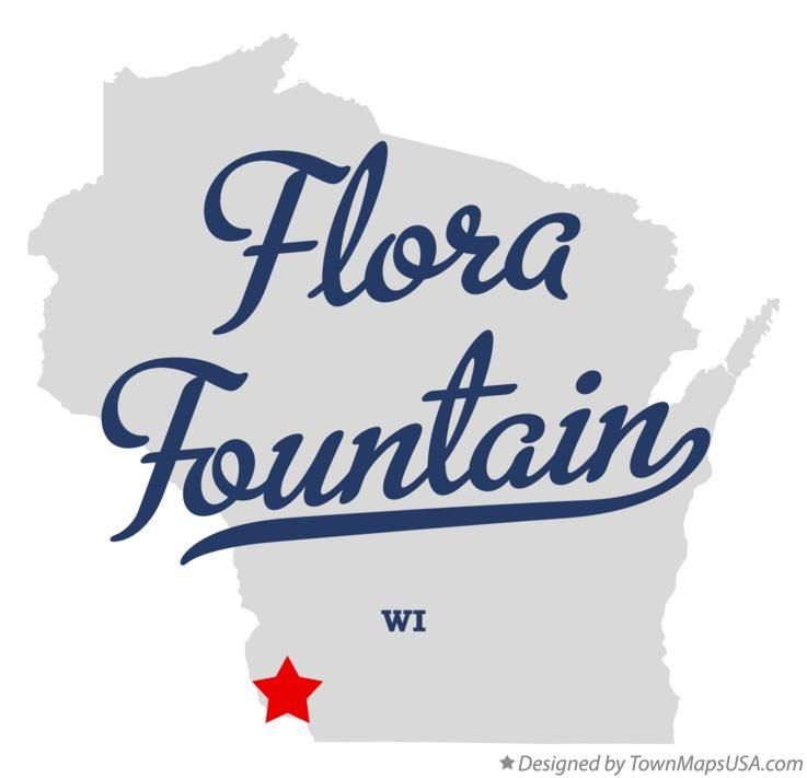 Map of Flora Fountain Wisconsin WI