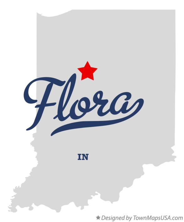 Map of Flora Indiana IN