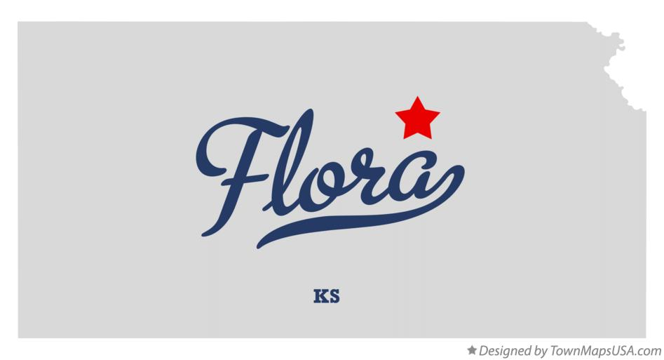 Map of Flora Kansas KS