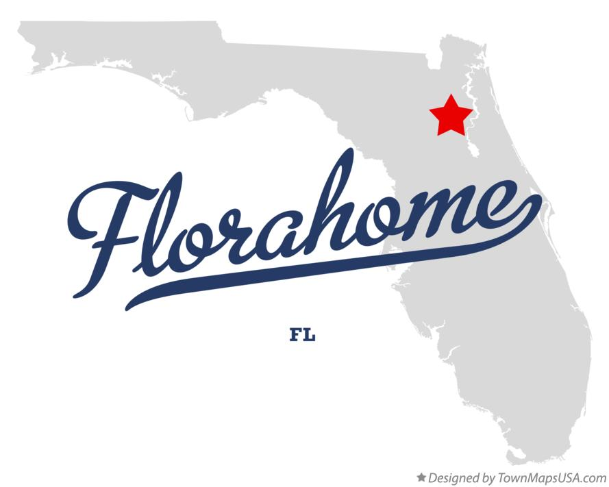 Map of Florahome Florida FL