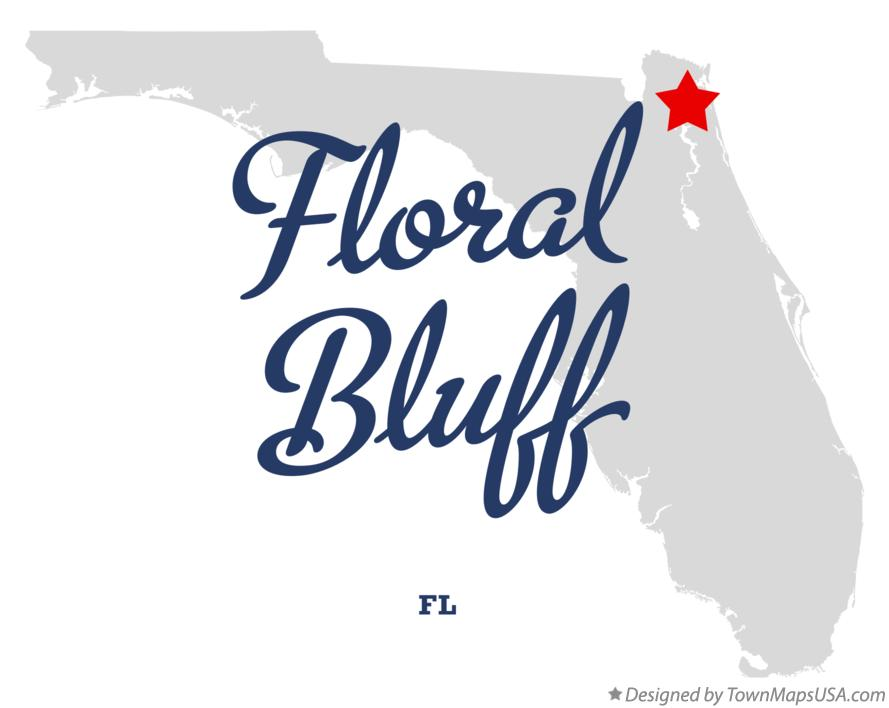 Map of Floral Bluff Florida FL