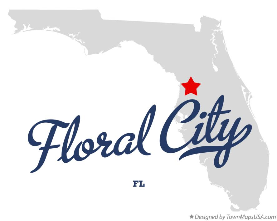 Map of Floral City Florida FL