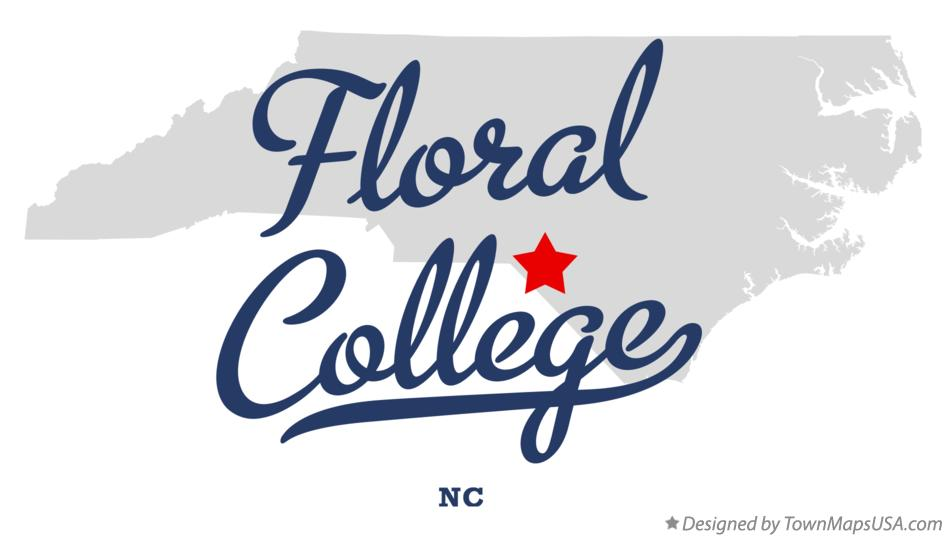 Map of Floral College North Carolina NC