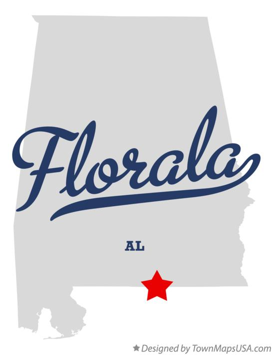 Map of Florala Alabama AL