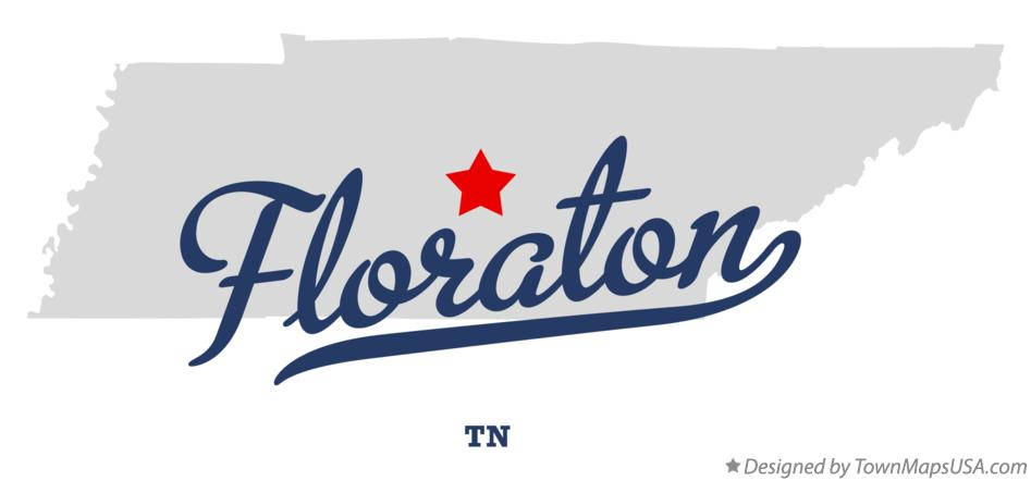 Map of Floraton Tennessee TN