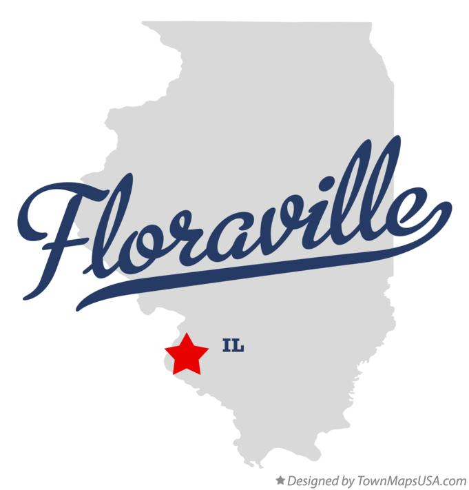 Map of Floraville Illinois IL