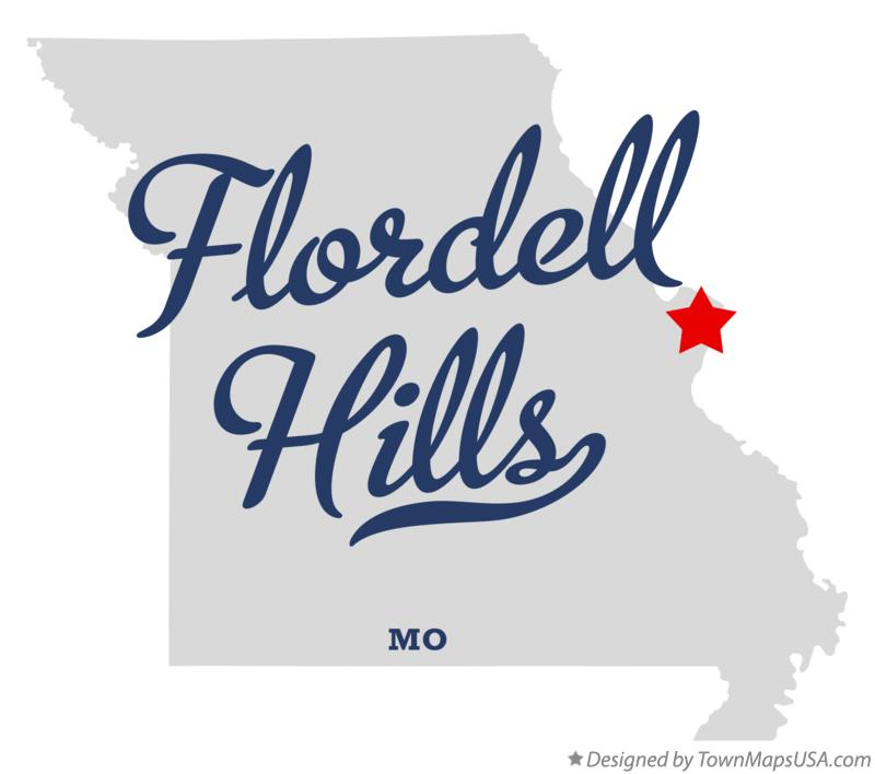 Map of Flordell Hills Missouri MO