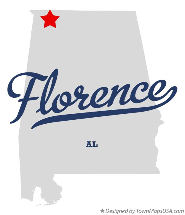 Map of Florence Alabama AL