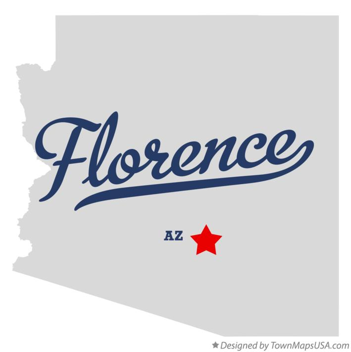 Map of Florence Arizona AZ